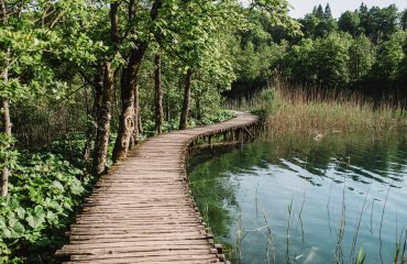 Wooden path in Plitvice, Croatia